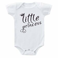 Little Princess Crown & Hearts Pink Cute Baby Girl Cotton One-piece Bodysuit