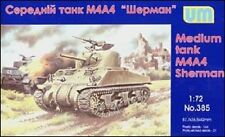 UniModels — M4A4 Sherman medium Tank — Plastic model kit 1:72 Scale #385
