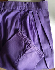 United Colors of Benetton Lavender Trousers 100%  Cotton made in Italy  c1980s