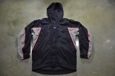 Helly Hansen Men's Medium Black Gray Red Trim Tech Ski Winter Waterproof Jacket