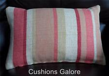 LAURA  ASHLEY FABRIC ~ RIPLEY BURNT ORANGE CUSHION 16 x 11 inch COMPLETE CUSHION