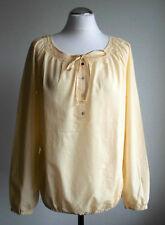 ESPRIT Damen Bluse Shirt Tunika creme-gelb Gr. 38 Neu