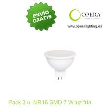 Bombilla LED MR16 SMD PLUS 7 w 6500 k pack 3 unidades