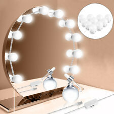 10LED Bulb white Hollywood Style LED Vanity Mirror Lights Makeup Dressing w/USB