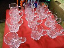 Magnificent Heavy Crystal Set of 10 Liquor Handled Glasses.Sale