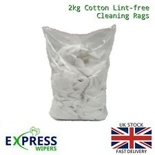 2kg White 100% Cotton Durable Lint-Free Polishing Cleaning Rags Wipers Cloths