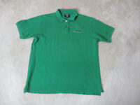 VINTAGE Ralph Lauren Polo Jeans Shirt Adult Large Green Blue Spell Out Rugby 90s