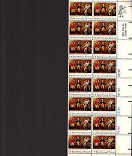 SURRENDER AT SARATOGA - 1728 PLATE # STRIP OF 16 - 1977