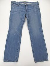 *OLD NAVY* SIZE 16 WOMEN'S BLUE STRETCHY 99% COTTON STRAIGHT JEANS