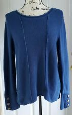 Habitat Clothes To Live In Blue Thermal Wood Button Cuff Size Medium Women