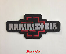 Rammstein biker art badge large Sew On Only Embroidered Patch Applique