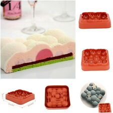 Square Cloud Shape Wine Red Bubbles Mousse Pan Cake Mold Silicone Baking Molds