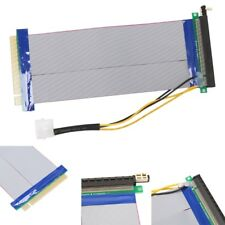 PCI Express PCI-E 16X To 16X Riser Extension Card Powered Ribbon Extender Cable