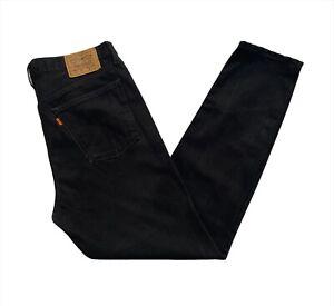 VINTAGE 1998 Levi's 615 Orange Tab Regular Straight Leg Black Jeans W38xL32 VGC