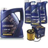 Ölwechsel Set 8L MANNOL Defender 10W-40 Motoröl + SCT Filter KIT 10202269