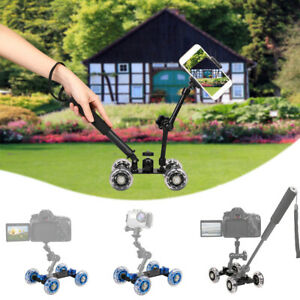 Desktop Camera Video Rail Rolling Track Slider Mobile Dolly Car Camcorder Glide