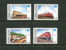 Sierra Leone  #764-7  trains railroads   4v.  1986  MNH  D682