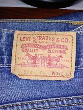 Levi's 512 preciosos jeans azul W31 L32 o L30 bootcut vintage (507.527) @7