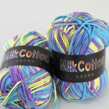 AIP Soft Baby Cotton Yarn New Hand dyed Wool Socks Scarf New Knit 2Skeinsx50g 15