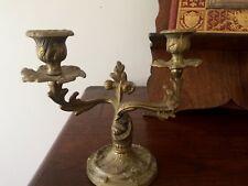 bougeoir rocaille à deux branches / XIXe / chandelier