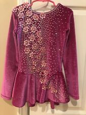 Mondor Ice Figure Skating Dress Customized Crystallization Girls Size 8-10