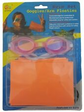 H143 Kids Swim Goggles and Armbands Set Swimming Goggles W2