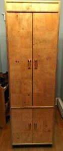 Vintage Henredon Scene Two Cabinet / Cupboard - Olive Burl Wood, Mid Century