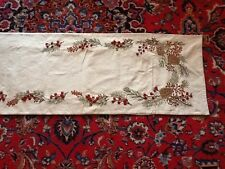 "Pottery Barn Christmas/Holiday Pinecone and Berry Table Runner 108""x18"" NWOT"