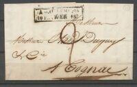 1828 Lettre Marque Cachet d'essai ANGOULEME 10 FEVRIER 1828 X2831