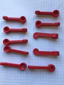 Vorreiber Fenstervorreiber Fensterriegel 10 Stück Rot Neu
