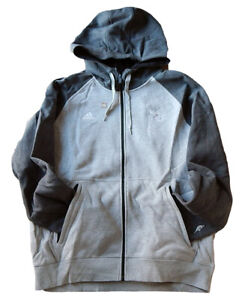 Charlotte Hornets Adidas NBA Authentic Team Issued Zip-Up Sweatshirt Hoodie 2XL