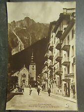 cpa photo 74 edition perrochet chamonix place de l'eglise et le brevent