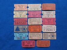 17 Vintage Drive-In Theatre Tickets Lot (Movie/Cinema)