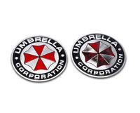 2pcs UMBRELLA Corporation Emblem Auto Aufkleber METALL Resident Evil Emblem 3D