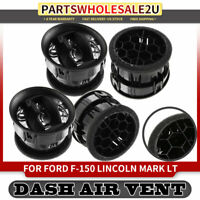 4x Black Dash Heater Air Vent 9L3Z19893AA for Ford F-150 Lincoln Mark LT 09-14