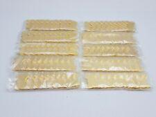 "100PC Brass Colored Solid Metal Bone Tag Collar Charm Pet Tag Blank Craft 1.5x1"""