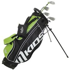 MKids Pro Junior Childrens Golf Package Half Set Left Hand Green 9-11 Age Kids