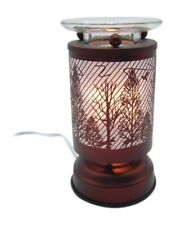 Electric Oil Wax Tart Melt Warmer Wildlife Deer Trees Design Touch Control