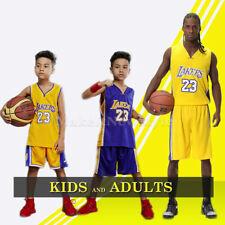 NBA LA Lakers #23 LeBron James Niños Chico Men Baloncesto Camisetas Jerseys Set