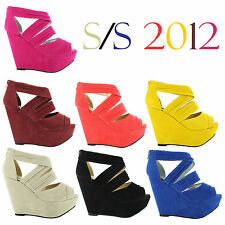 Wedge Strappy, Ankle Straps Faux Suede Unbranded Women's