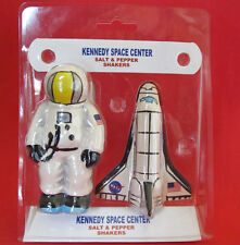 Nasa Shuttle And Astronaut * Kennedy Space Center * Salt and Pepper Shakers