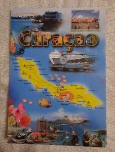 AK Landkarte Insel Curacao Karibik Niederlande gelaufen Marken Stempel 2013