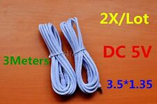 2X 10ft DC 5V Extension Power Cable Cord 3M 3.5*1.35 For IP Camera Foscam Apexis