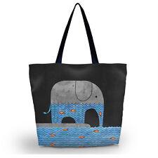 Elephants Women Girl Shopping Bag Shoulder Tote Handbag Folding Reusable Eco Bag