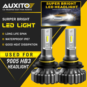 AUXITO 9005 HB3 LED Fanless Headlight Kit 20000LM High/Lo Beam Bulb CANBUS B3 EA