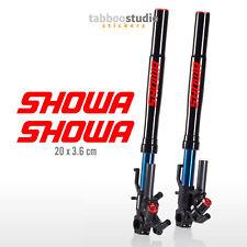 Pegatinas SHOWA stickers motocross moto horquilla KTM Ducati Honda BMW Suzuki