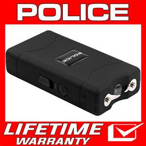 POLICE Stun Gun Mini BLACK 800 380 BV Rechargeable LED Flashlight