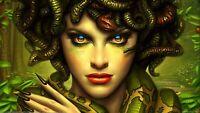 Medusa - Gorgo Mythology Snakes Head Wall Art Large Poster & Canvas Pictures