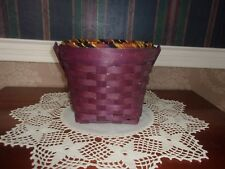 "Longaberger 2010 7"" Measuring Basket Set - Purple Autumn Stripe"