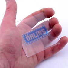 Ohlins Stickers Vinyl Decals claro x2 50mm suspensión casco Ventana Panel